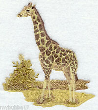 SEPIA  GIRAFFE UNIQUE SET OF 2 BATH HAND TOWELS EMBROIDERED BY LAURA