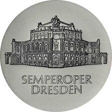 DDR 10 Mark Silber 1985 stempelglanz Semperoper in Dresden in Münzkapsel