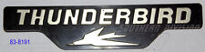 TRIUMPH 83-8191 Sidecover Thunderbird styling BADGE pagine emblema COPERCHIO tr65