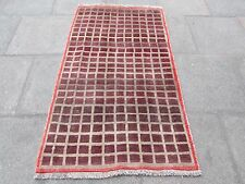 Old Traditional Hand Made Persian Oriental Wool Brown Purple Gabbeh 170x100cm