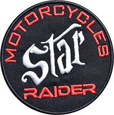 STAR MOTORCYCLES RAIDER IRON ON PATCH Aufnäher Parche brodé yamaha STARS toppa