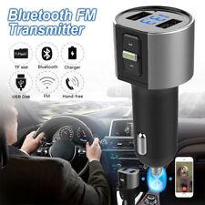 Wireless In-Car Bluetooth FM Transmitter MP3 Radio Adapter Car 2 USB Charger RF