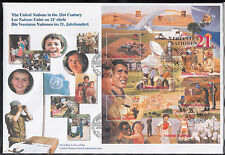 2015) UN in 2000 - the United Nations in the 21st Century of 3 First Day Cover