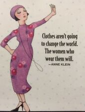 Mary Engelbreit Artwork-Clothes Aren't Going To Change-Handmade Magnets