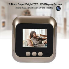 """Golden 2.4"""" Screen Wireless Video Doorbell with Infrared Peephole Recording"""