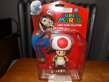 """SUPER MARIO LARGE FIGURE COLLECTION, TOAD 4"""" FIGURE, NEW IN PACKAGE, 2013"""