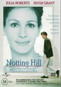 Notting Hill DVD ~ Brand New & Sealed ~ Region 2, 4 ~ Julia Roberts, Hugh Grant
