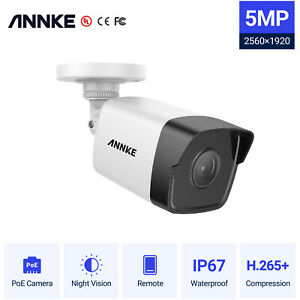 ANNKE 5MP HD PoE Security IP67 Camera Home Safety Night Vision Waterproof Audio