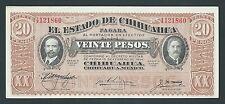 F.C. MEJICO MEXICO , CHIHUAHUA , 20 PESOS 1915 , S/C- ( AUNC ) , PICO , P.S537b