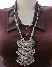 Long Chain Necklace Pendant Womens Fashion Jewelry Kuchi Tribal Boho Gypsy Style