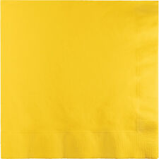 "25 School Bus Yellow Birthday Party Tableware 8"" Paper 3ply Dinner Napkins"
