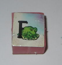 F Frog Rubber Stamp Foam Mounted Letter Initial Animal