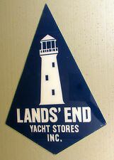 Vintage LAND'S END Yacht Stores Inc. ADVERTISING SIGN Boat Boating LIGHTHOUSE