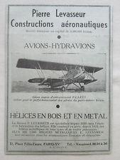1933-34 PUB PIERRE LEVASSEUR HELICE BOIS METAL AVION MARIN PL7 BEARN ORIGINAL AD