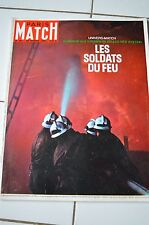 REVUE PHOTO PARIS MATCH N° 881 / 1966 HOMMAGE SPECIAL POMPIERS DU FEU FEYSIN