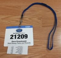Disney World Resort American Idol Experience Collectible Cast Card Lanyard