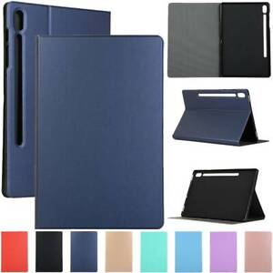 """Fr Samsung Galaxy Tab S7 Plus 12.4 T970 11"""" T870 Tablet Leather Stand Case Cover"""