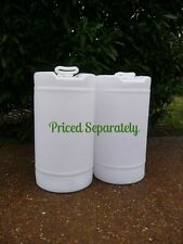 15 GALLON white plastic Barrel Drum Container FOOD GRADE water fuel storage sand