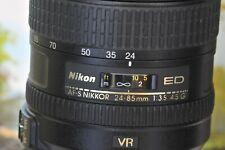 Nikon Nikkor AF-S 24-85mm 3.5-4.5 VR with hood