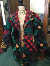 VTG KOOS VAN DEN AKKER of New York Patchwork Women's Coat XL 16