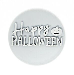 Happy Halloween Pumpkin V2 embosser stamp cookie fondant cupcake decoration