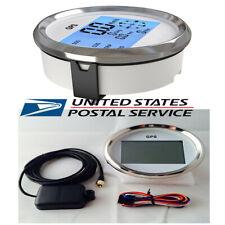 1x Universal 9-32V 85mm Waterproof GPS Digital Speedometer Odometer Gauge Sliver