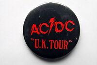 AC/DC VERY RARE BADGE POWERAGE UK TOUR 1978 BON SCOTT