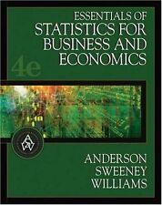 Essentials of Statistics for Business and Economics (with CD-ROM and InfoTrac) (