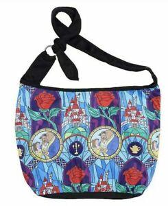 Disney Beauty and the Beast Stained Glass Hobo Bag Handbag Purse Loungefly New