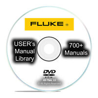 Fluke Manual Library, 700+ Instruction, Operation, Users, Service PDF CD DVD I34