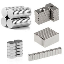 10/20/50/100pcs Round Square Super Strong Rare Earth Magnets Neodymium Magnet