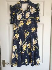 Zara Short Playsuit Jumpsuit Size 10 Small Navy Blue Floral BNWT Occasion Party