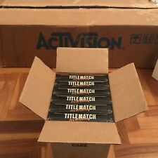 Title Match Pro Wrestling Atari 2600. Factory Box 6 Units. New Sealed Games **