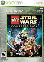 LEGO STAR WARS COMPLETE SAGA XBOX 360 NEW! JEDI FORCE, DARTH VADER, SITH EPIC