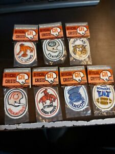 Vintage CFL Badges Crests Lions Eskimos Tiger-Cats Alouettes Ottawa Rough Riders