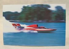 1992 BUDWEISER promo color card picture print hydroplane boat racing
