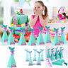 10Pcs Mermaid Shape Candy Boxes Party Birthday Wedding Mermaid Gift Kids DIY New