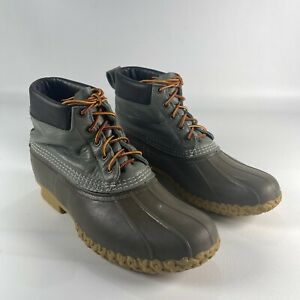 """LL Bean Boot Mens Size 11 M 8"""" Waterproof Maine Hunting Duck Boots Made in USA"""
