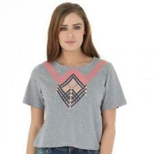 Firetrap Womens Cropped top T-Shirt grey Marl size 14  large