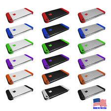 Apple iPhone 4 4s 5 5s Custom Textured Carbon Fiber Vinyl Wrap Protector Skin