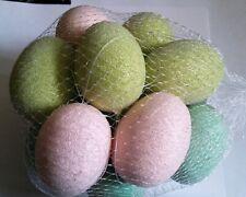 Eggs 2.5 inch Beaded Assorted 16 pieces Ornaments Home Decor E1