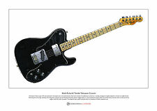 Keith Richards' Fender Telecaster Custom Limited Edition Fine Art Print A3 size