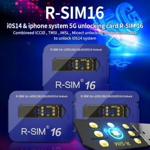 Upgrade RSIM 16 Nano Unlock Card for iOS14 iPhone 12 Pro 12 Pro Max X XS Max8 GB