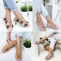 Summer Women Ladies Flat Peep Hemp Rope Toe Weaving Sandals Toe Fish Mouth Shoe