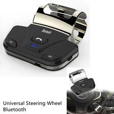 Car Steering Wheel Handsfree Bluetooth Speakerphone Kits Connect 2 Smart Phone