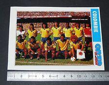 COLOMBIE COLOMBIA TEAM FICHE ONZE MONDIAL COUPE MONDE FOOTBALL ITALIA 90 1990