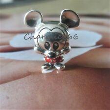 Charm Disney Mickey Pantalon Rouge Argent 925 + pochette PANDORA