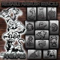 Airbrush Stencils REUSABLE PREDATORS New  VINYL (adhesive)