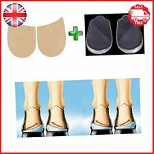 Orthopedic Insoles Shoe Inserts Medial & Lateral Heel Wedge Silicone Pads 2 Kit