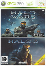 HALO WARS/ HALO 3 DOUBLE PACK for Xbox 360 - with box & manuals - PAL